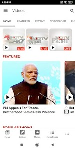 screenshot of NDTV News - India version Varies with device