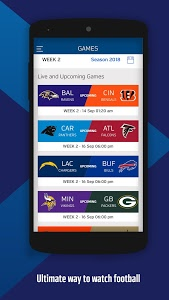 screenshot of NFL Game Pass International version Varies with device