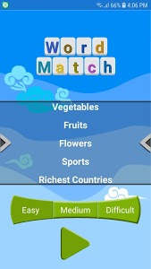 screenshot of NIA Word Match version 2.0.2