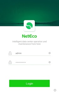 screenshot of NetEco DC version 2.0.6