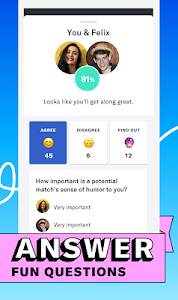screenshot of OkCupid - The #1 Online Dating App for Great Dates version 33.4.1