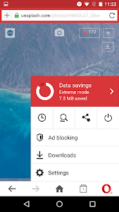 screenshot of Opera Mini browser beta version Varies with device