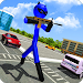 Super Stickman Hero:Gangster Crime City Battle