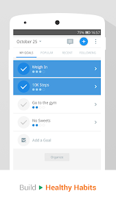 screenshot of Pedometer & Weight Loss Coach version p2.20.0