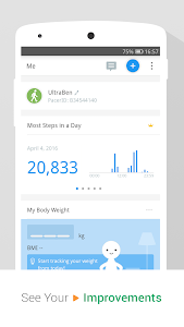 screenshot of Pedometer & Weight Loss Coach version p2.16.1