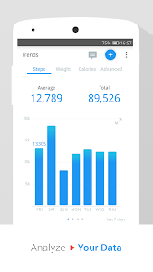 screenshot of Pedometer & Weight Loss Coach version p2.17.0