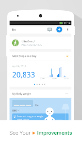 screenshot of Pedometer & Weight Loss Coach version p2.9.9