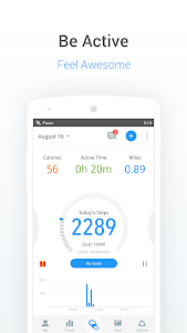 screenshot of Pedometer, Step Counter & Weight Loss Tracker App version p5.9.2
