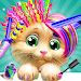 Pet Kitty Hair Salon Hairstyle Makeover