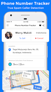 screenshot of Phone Number Tracker version 12.3