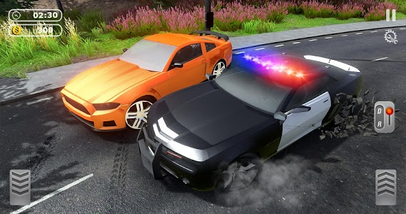 screenshot of Police Car Vs Thief Car Games - Crazy Car Chase version 1.0