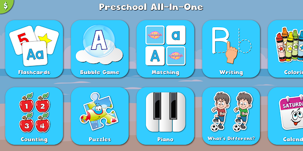 screenshot of Preschool All-In-One version 1.0.4