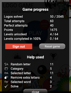 screenshot of Quiz: Logo game version 8.0