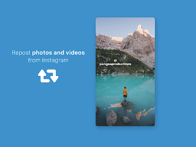 screenshot of Repost and Save for Instagram version 3.9.3.9