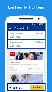 screenshot of Ryanair - Cheapest Fares version 3.53.2
