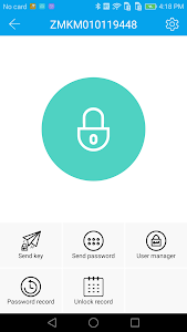 screenshot of SENTRY Lock version 1905101435