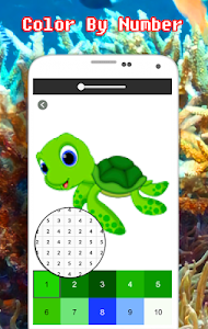 screenshot of Sea Animals Coloring By Number - Pixel version 2.0
