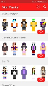 screenshot of Skin Packs for Minecraft PE version 1.3.3