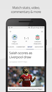 screenshot of Sky Sports Live Football Score Centre version 5.10.1