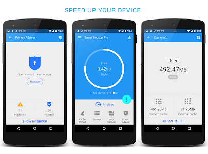 screenshot of Smart Booster - Free Cleaner version Varies with device