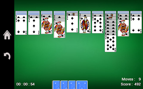 screenshot of Spider Solitaire version 1.13
