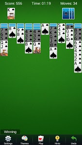 screenshot of Spider Solitaire - Best Classic Card Games version 1.2.1