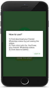 screenshot of Status Saver version 1.6