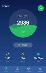 screenshot of Step Counter - Pedometer Free & Calorie Counter version 1.1.0