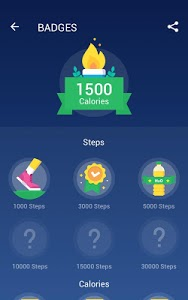 screenshot of Step Counter - Pedometer Free & Calorie Counter version 1.0.43