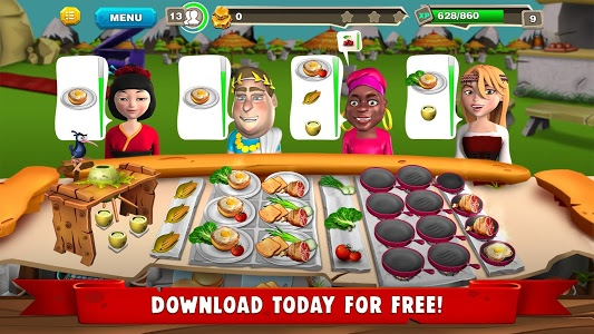 screenshot of StoneAge Chef: The Crazy Restaurant & Cooking Game version Varies with device