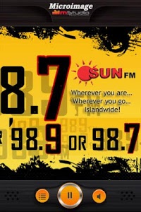 screenshot of Sun FM Mobile version 2.3