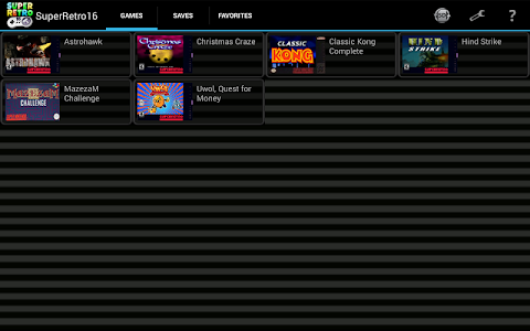 screenshot of SuperRetro16 Lite (SNES Emulator) version 1.8.1