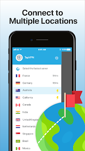 screenshot of TapVPN Free VPN version 2.0.17