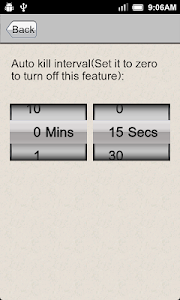 screenshot of Task Killer version 1.2.11