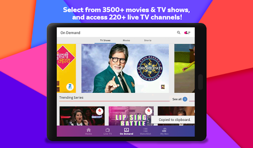 screenshot of Tata Sky Mobile- Live TV, Movies, Sports, Recharge version 8.16