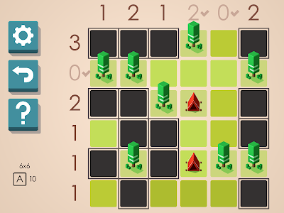 screenshot of Tents and Trees Puzzles version 1.3.10