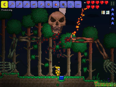 screenshot of Terraria. version 1.2.11585