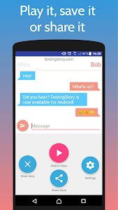 screenshot of TextingStory - Chat Story Maker version 2.1.2