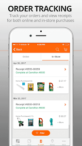 screenshot of The Home Depot version 5.18.1