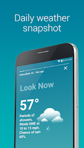 screenshot of Weather maps & forecast, with The Weather Channel version Varies with device