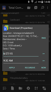 screenshot of Total Commander - file manager version Varies with device