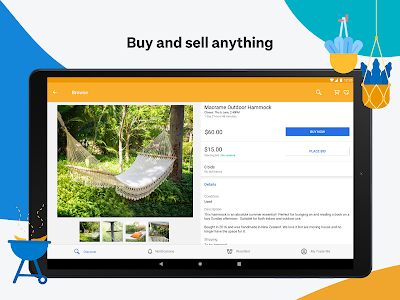 screenshot of Trade Me version Varies with device