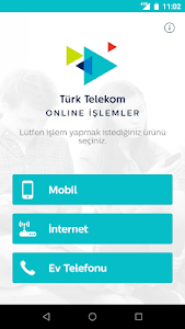 screenshot of Türk Telekom Online İşlemler version 7.1.1