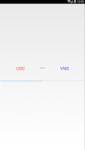 screenshot of USD to VND version 1.0