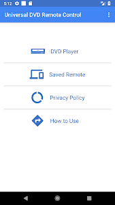 screenshot of Universal DVD Remote Control version 1.6