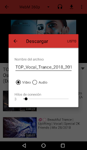 screenshot of Video Downloader - (Mp3-Converter) version 1.1