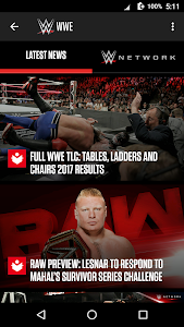 screenshot of WWE version 3.17.1