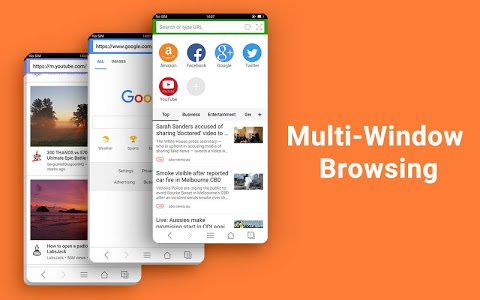 screenshot of Web Browser - Fast, Private & News version 1.3.1