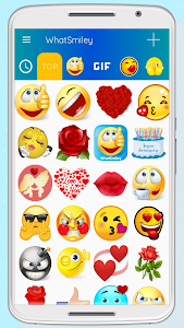 screenshot of WhatSmiley - Smileys, GIF, emoticons & stickers version 5.3.6