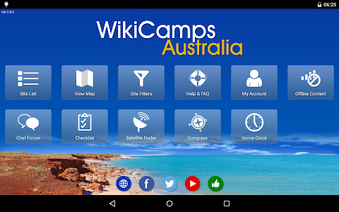 screenshot of WikiCamps Australia version 2.6.2